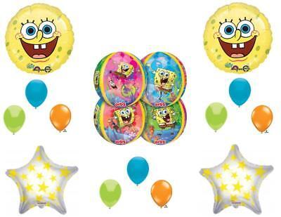 NEW Spongebob Squarepants Orbz Happy Birthday balloons Decorations Supplies - Happy Birthday Spongebob