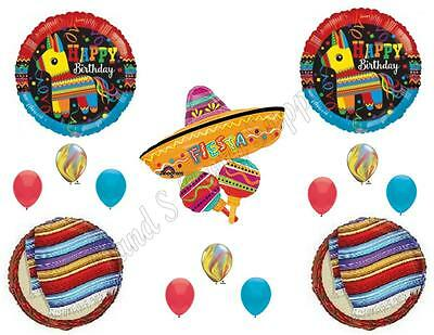 FIESTA Pinata Sombrero Birthday Party Balloons Decoration Su