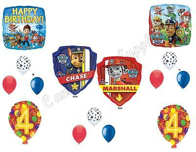 PAW PATROL 4th Birthday Balloons Decoration Supplies Party C