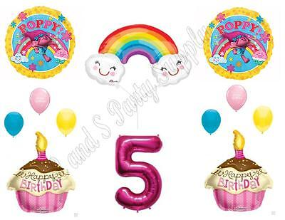 TROLLS POPPY & RAINBOW 5th Movie Birthday Party Balloons
