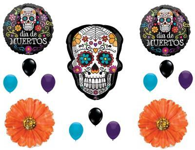 Sugar Skull Day of the Dead Birthday party Balloons Decorations Halloween](Day Of The Dead Birthday)