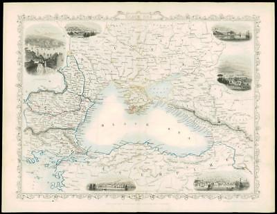 1850 Antique Map of