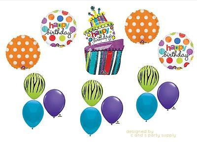 FUNKY CAKE HAPPY BIRTHDAY PARTY BALLOONS Decorations Supplies 16TH Hippy - Happy 16th Birthday Balloons