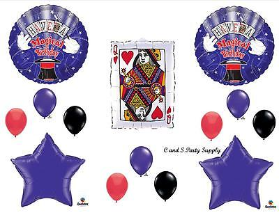 Magician Birthday Party Supplies (MAGICAL HAPPY BIRTHDAY PARTY BALLOONS Decorations Supplies Magician)