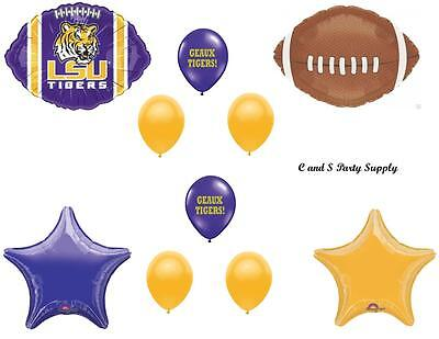 LSU TIGERS Louisiana State Football BIRTHDAY party Balloon Decorations Supplies