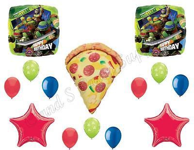 TEENAGE MUTANT NINJA TURTLE & PIZZA Birthday Balloons Decoration Supplies Party
