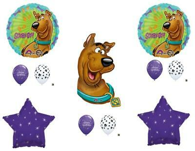 SCOOBY DOO Purple Bones Happy Birthday Party Balloons Decoration Supplies - Scooby Doo Birthday Supplies