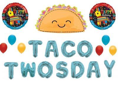 Taco TwosDay 2nd Birthday Party Balloons Decoration Supplies Fiesta - Taco Pinata