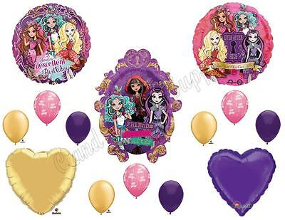 EVER AFTER HIGH Happy Birthday Balloons Decoration Supplies Monster Hexcellent](Ever After High Decorations)