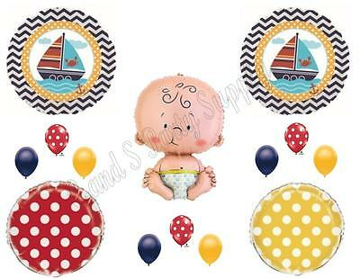 Nautical Baby Shower Supplies (AHOY! It's A Boy Baby Shower Balloons Decoration Supplies Nautical Whale)