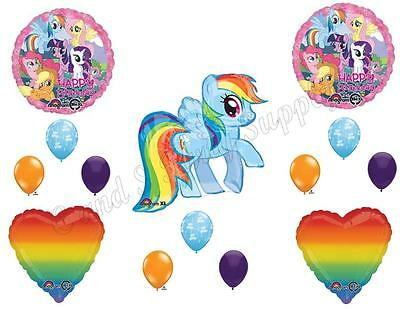 MY LITTLE PONY Dash Rainbow Birthday Balloons Decoration Supplies Party Horse