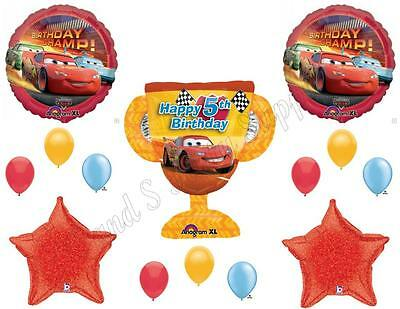 DISNEY CARS 5th Birthday Balloons Decoration Supplies Party Lightning - Cars Birthday Balloons