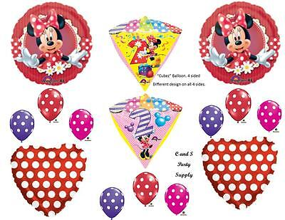 MINNIE MOUSE 2ND DIAMONDZ Birthday party Balloons Decoration Supplies Second](Minnie Mouse 2nd Birthday Decorations)