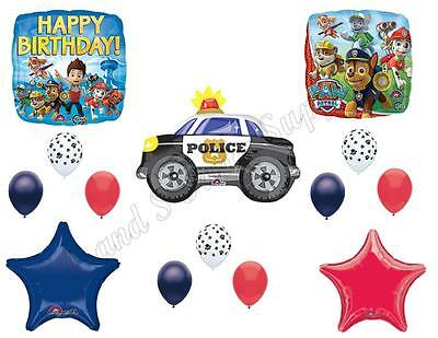 PAW PATROL CHASE Police Car Birthday Balloons Decoration Supplies Party
