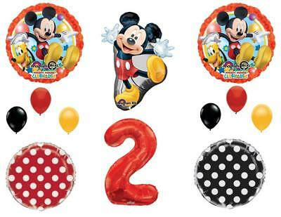2nd MICKEY MOUSE Two-Dles Birthday Party Balloons Decoration Supplies Second - Mickey Mouse 2nd Birthday Party Supplies