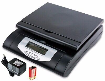 Heavy Duty 75lbs Black Digital Shipping Postal Scale With Acbattery