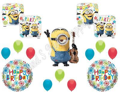 Despicable Me Birthday Party Decorations (STUART DESPICABLE ME MINIONS Happy Birthday PARTY Balloons Decorations)