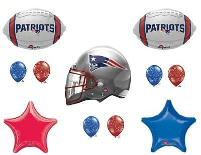 New England Patriots 11 PIECES! Birthday Party Balloons Decorations Super Bowl - Super Bowl Party Decorations