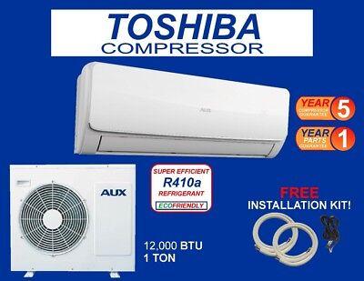 12,000 BTU  Ductlless Air Conditioner, Heat Pump Mini split 110V 1 Ton With/K