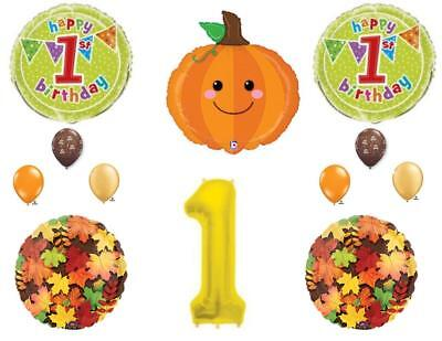 Little Pumpkin 1st Birthday Party Balloons Decoration Supplies First Patch Fall - Pumpkin Balloons