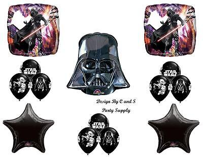 STAR WARS DARTH VADER Birthday party Balloons Decoration Supplies Space NEW!!!