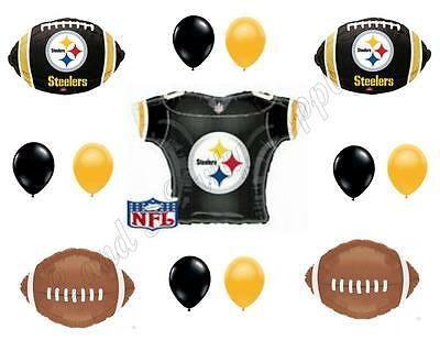 PITTSBURGH STEELERS FOOTBALL Happy Birthday Party Balloons Decoration Supplies - Steelers Happy Birthday