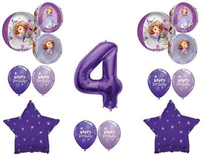 Awesome! SOFIA THE FIRST 4th Birthday party Balloons Decoration Supplies Orbz - Sofia The First Birthday Party Decorations