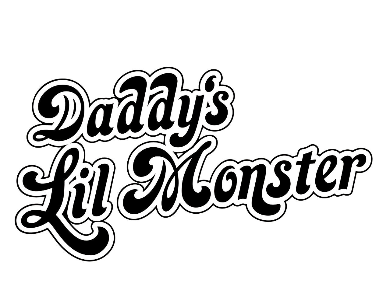 DADDY'S LIL MONSTER Iron-on T-shirt transfer. A4 / A5. Re-invent your t-shirt.