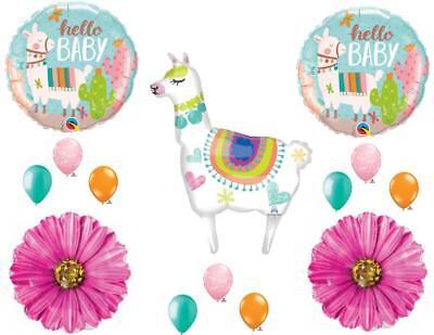 Baby Girl Supplies (Llama Mama Baby Shower Girl Balloons Decoration Supplies)