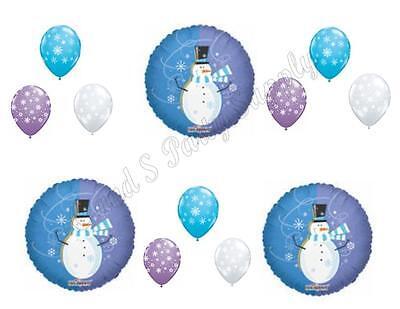 WINTER WONDERLAND SNOWMAN Birthday Balloons Decoration Supplies Party 1st First](First Birthday Winter Wonderland)