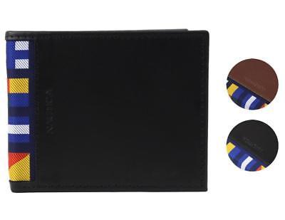 Nautica Mens Genuine Leather - Nautica Men's Genuine Leather Credit Card Id Billfold Rfid Wallet 31NU220028