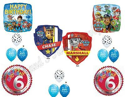 PAW PATROL 6TH Birthday Balloons Decoration Supplies Party S