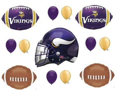 Minnesota Vikings Party Supplies (Minnesota Vikings Football Game Birthday Party Balloons Decorations)