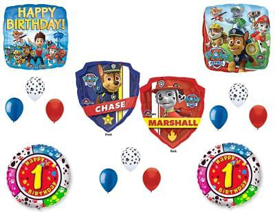 1st Birthday Paw Patrol Balloons Decoration Supplies Party F