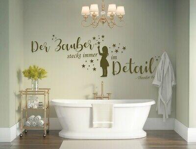 Wandtattoo Frauen Jugendzimmer mädchen Wandtattoo Badezimmer Der Zauber a9