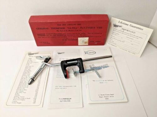 Vintage Thompson Original Ultra Fly-Tyers Tying Vise w/ Box