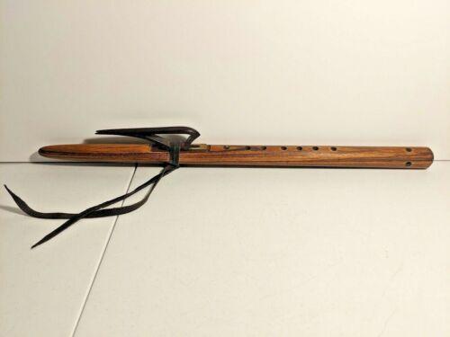 "Nice Vintage Wooden Flute - 6 Hole, 23 3/8"" Long"