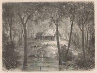 C1267 Brazil - Le Maison Du Gapo - Xilografia D'epoca - 1867 Vintage Engraving -  - ebay.it