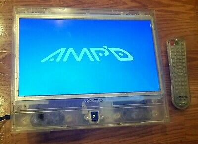 "AMP'D 13"" LCD HDTV Clear Prison TV Transparent Television Monitor W/Remote EUC"