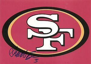 Scott Tolzien 49ers Signed Auto 5x7 Logo Photo
