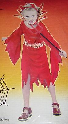 Grusel Kostüm TEUFELIN,Kinder 6-8 - Grusel Kostüm