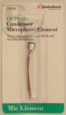 Radioshack 270-092 Cbpamic Omnidirectional Condenser Microphone Element