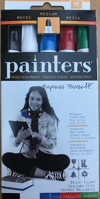 Elmers Markers - Elmer's Painters 5 Opaque Acrylic Permanent Markers For Fabric/glass/Wood/metal