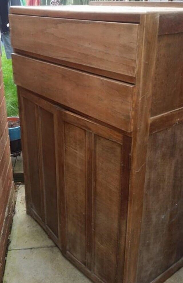 Solid wood cupboard (up cycling project?)
