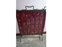 Stunning vintage/retro metal/glass fire screen