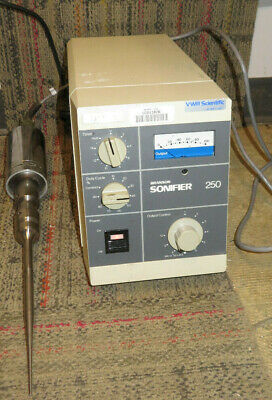 Branson Sonifier 250 Ultrasonic Cell Disrupter Power Supply W Converter Used