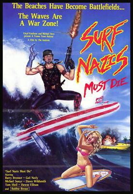 Men's Ladies T SHIRT B movie Surf Nazis Must Die 80s beach war