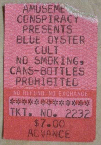 5-25-79 Blue Oyster Cult *VINTAGE RARE* Concert Ticket Stub Adams F.H Missou Mt.