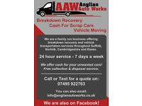 Cash Paid For Scrap Cars & Vehicle Recovery / Transport - Suffolk, Cambridgeshire & Norfolk