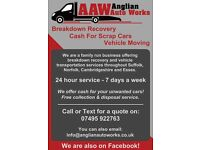 Vehicle Recovery / Transport & Cash Paid For Scrap Cars - Suffolk, Cambridgeshire & Norfolk